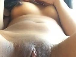 2 min - Sexual asian toying her shaved tight cunt