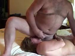 4 min - Mature wife jizzes husband