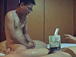 6 min - Nerdy oriental man drilling