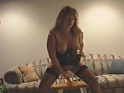7 min - Sexy wife in sexy corset toy riding