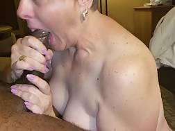 3 min - Mature white lady swallows